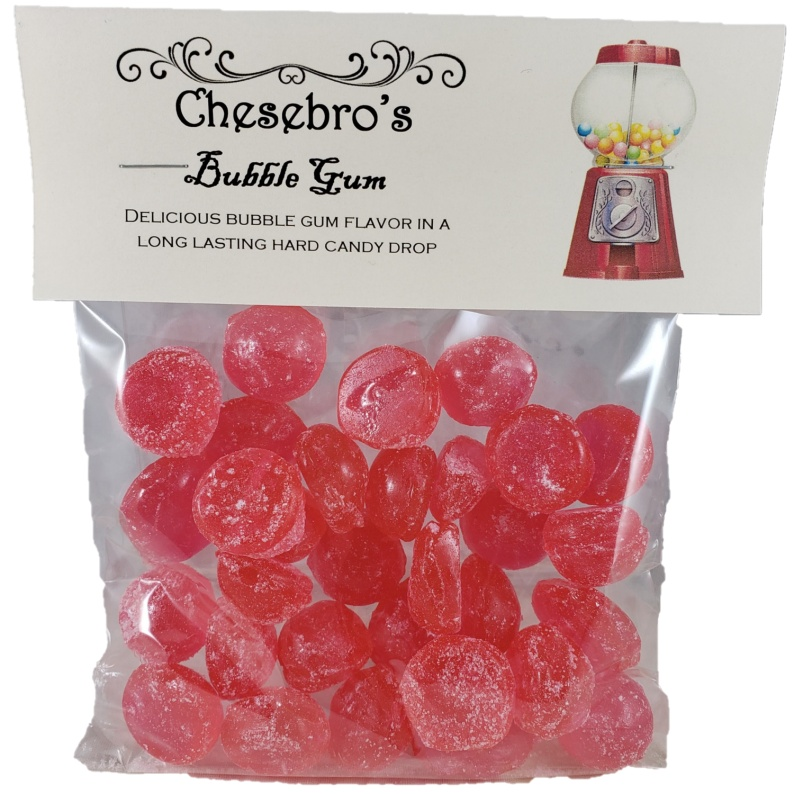 Bubble Gum Hard Candy Drops