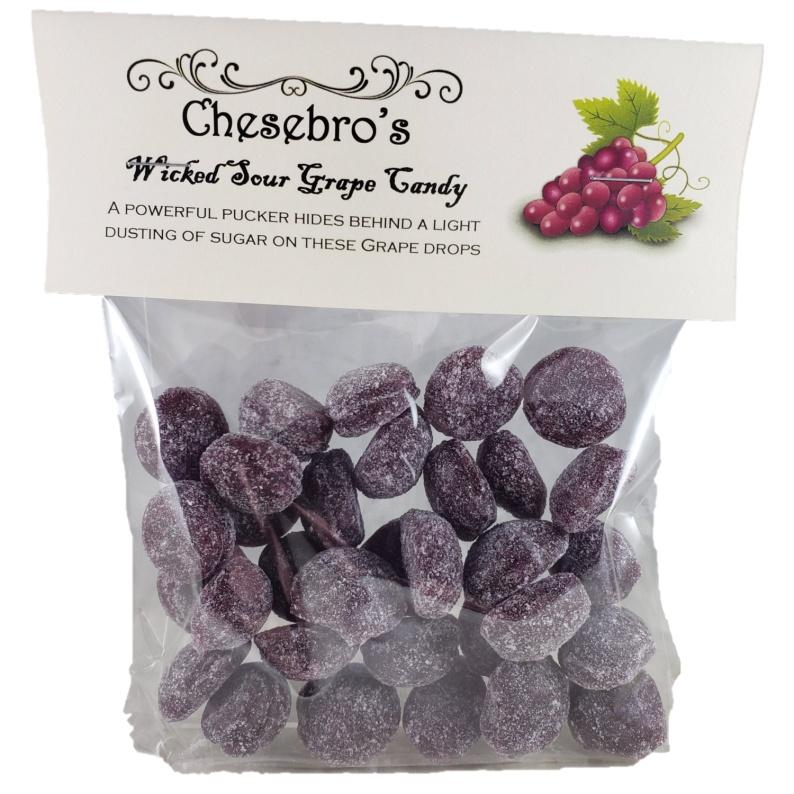 Sour Grape Hard Candy Drops