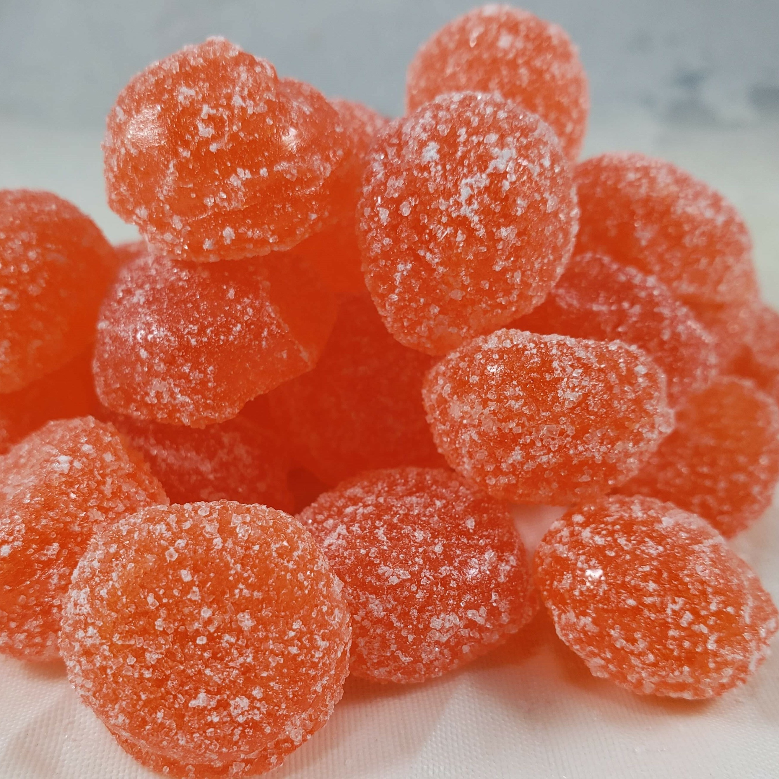 Sour Tangerine Hard Candy Drops