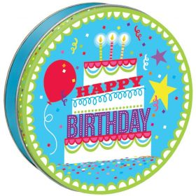 Happy Birthday Candy Tin with 13.5 oz. of Candy Drops
