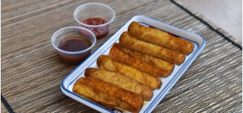 Turtle Banana Dessert Rollies (Egg Rolls)
