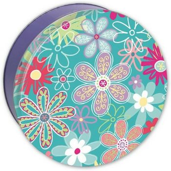 Flower Blossom Candy Tin with 13.5 oz. of Candy Drops