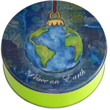 Peace on Earth Candy Tin with 13.5 oz. of Candy Drops