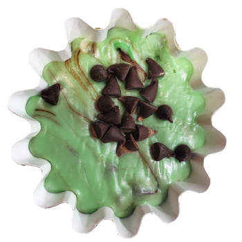 Mint Chocolate Chip Fudge Cup