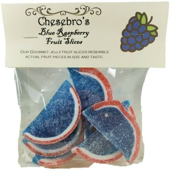 Gourmet Blue Raspberry Flavor Jelly Fruit Slices